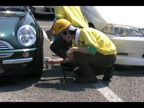 【動画】JATMA 浜名湖SAでタイヤ点検実施