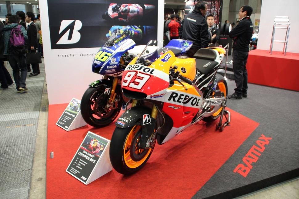 2014MotoGPに参戦したバイク(東京モーターサイクルショー)
