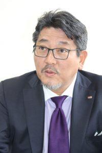 ネクセンタイヤジャパン西村竜代表取締役社長の写真