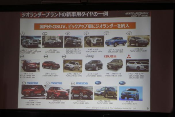国内外の多くの新車にジオランダーが納入されている