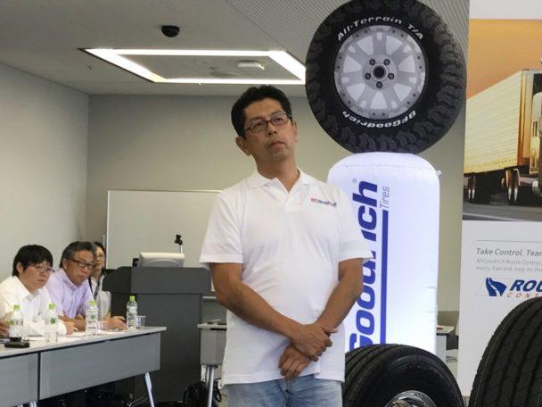 トラック・バスタイヤ事業部執行役員の高橋敬明氏