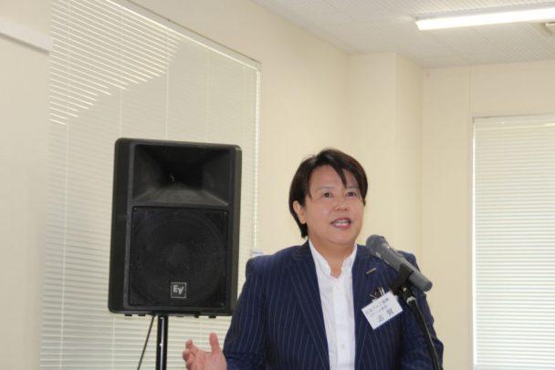 TB作業コンテストの概要を説明する志賀リテール部長