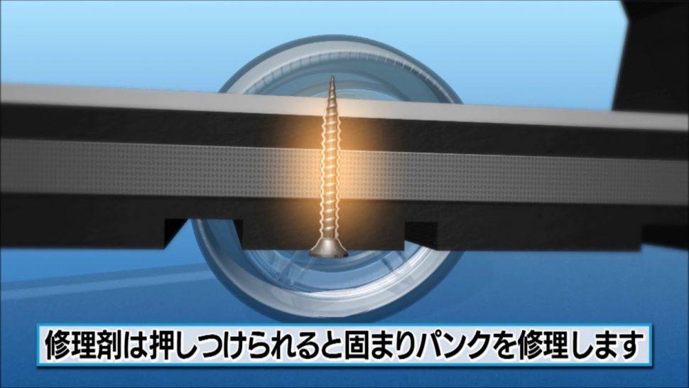 【動画】ダンロップ タイヤパンク応急修理キット(自動注入型)の使用方法