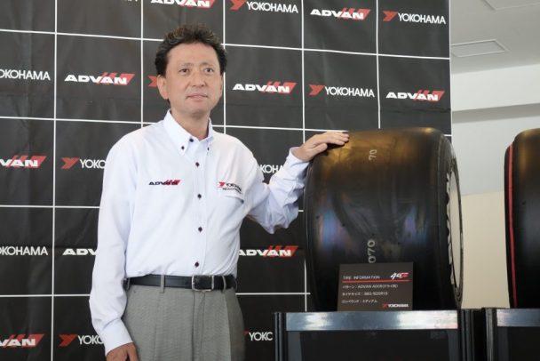 全日本スーパーフォーミュラ選手権の開幕戦で会見した山石社長